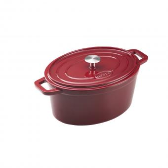 RÖSLE Gusseisen-Bräter GRAND CUISINE 31 cm oval DARKRED Induktion