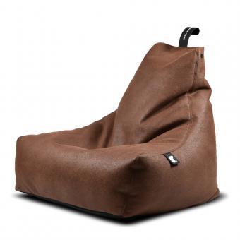 B-bag mighty-b Indoor Sitzsack Lederoptik Chestnut