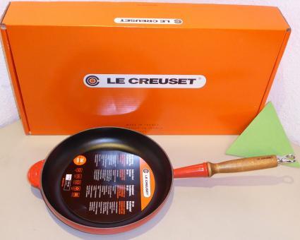 Le Creuset Gusseisen Bratpfanne 26 cm Kirschrot Induktion