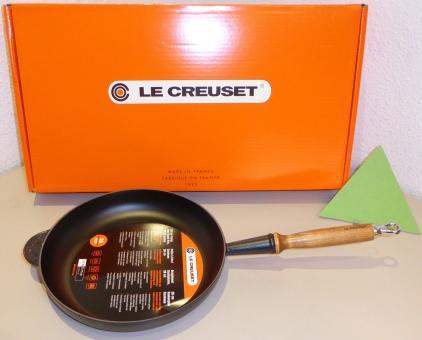 Le Creuset Gusseisen Bratpfanne 26 cm Schwarz Induktion