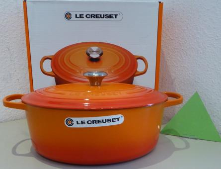Le Creuset Bräter Signature, oval, 33 cm, 7,5 Liter, Ofenrot