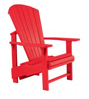 Muskoka chair Adirondack CB03 Upright red