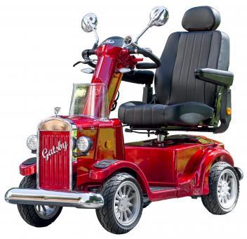 VINTAGE MOBILITY Elektromobil GATSBY 75 Ah 15 km/h Seniorenmobil Rot