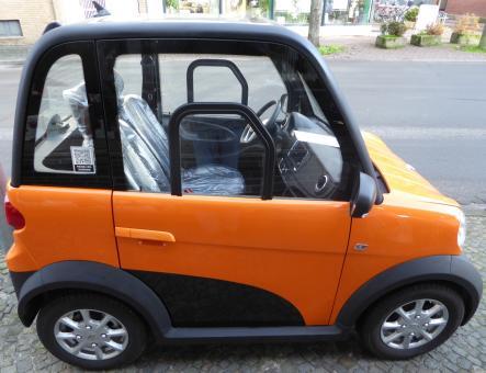 GECO Elektroauto TWIN 4.0 Micro Car Orange Vorführfahrzeug