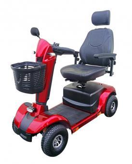 Lebensfreude Elektro-Scooter Exclusiv-Modell 15 km/h Rot