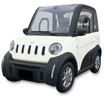 GECO Elektroauto TWIN Micro Car Weiß