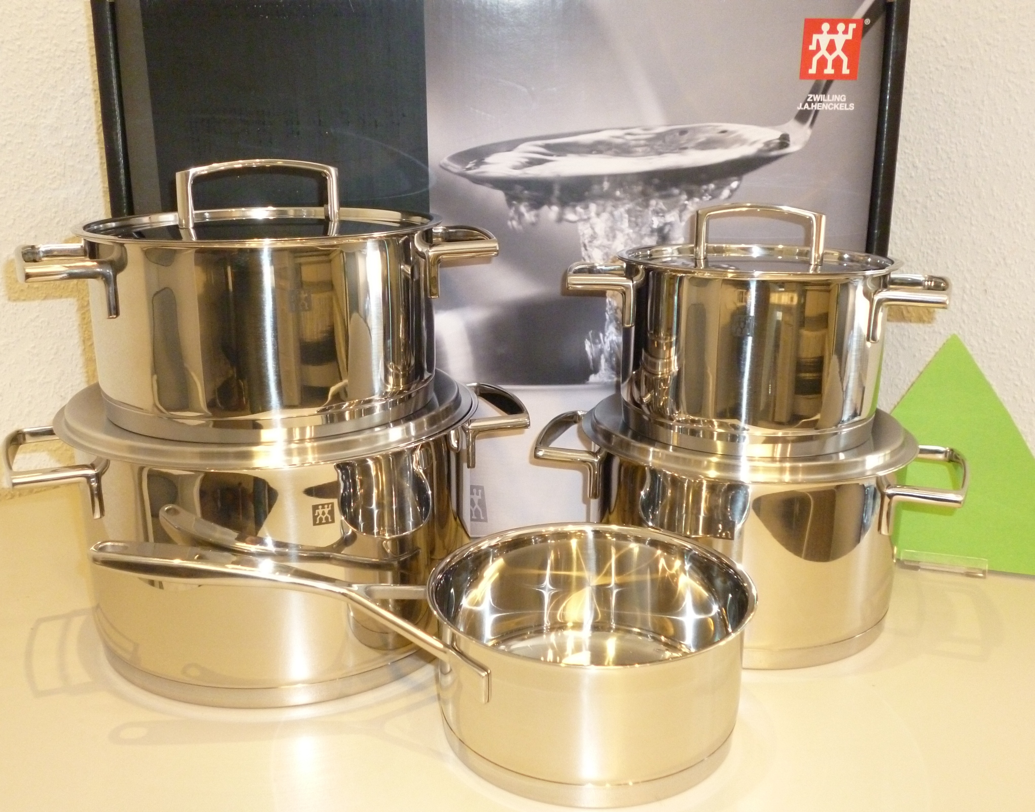 homann schenken kochen wohnen zwilling topfset passion 5 tlg induktion. Black Bedroom Furniture Sets. Home Design Ideas