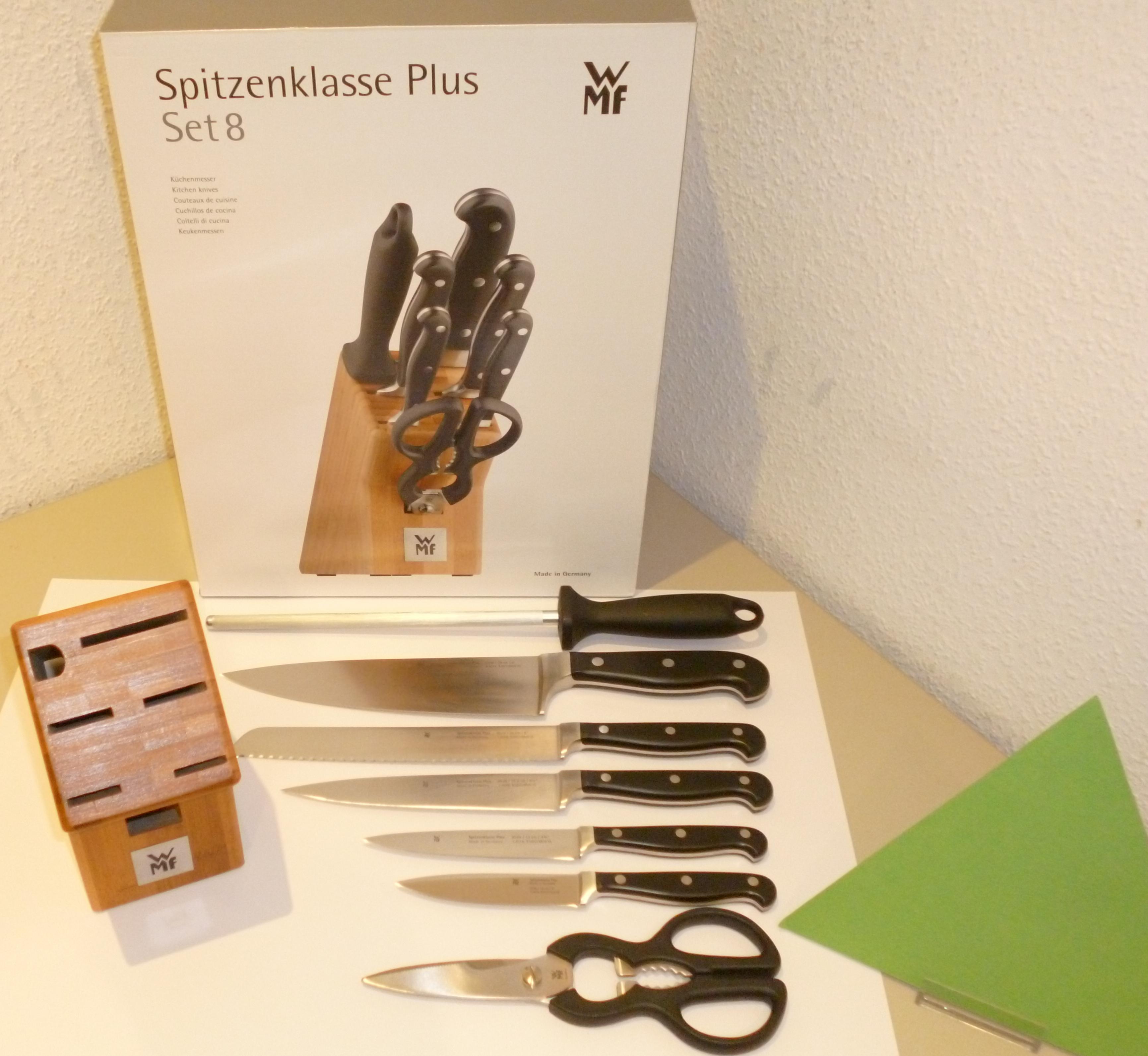 homann d lmen schenken kochen wohnen wmf messerblock spitzenklasse plus set 8 made in germany. Black Bedroom Furniture Sets. Home Design Ideas