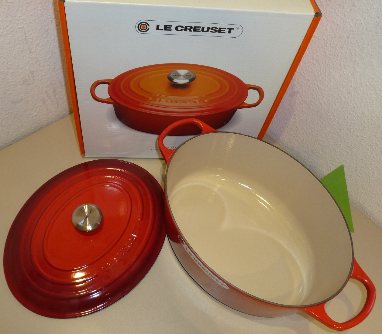 homann schenken kochen wohnen le creuset br ter signature 35 cm oval kirschrot induktion. Black Bedroom Furniture Sets. Home Design Ideas