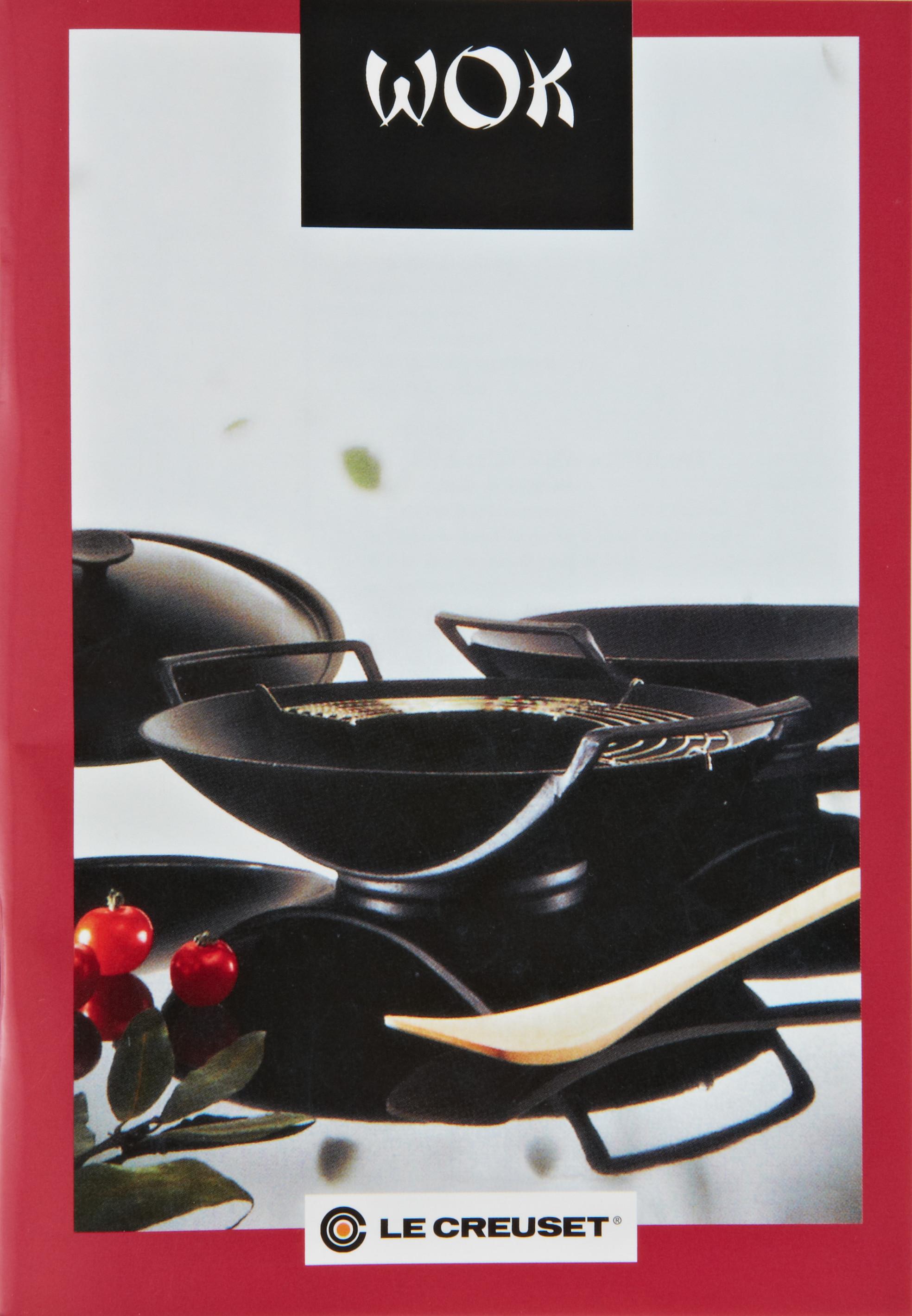 homann schenken kochen wohnen le creuset wok gusseisen 5 teilig schwarz induktion. Black Bedroom Furniture Sets. Home Design Ideas