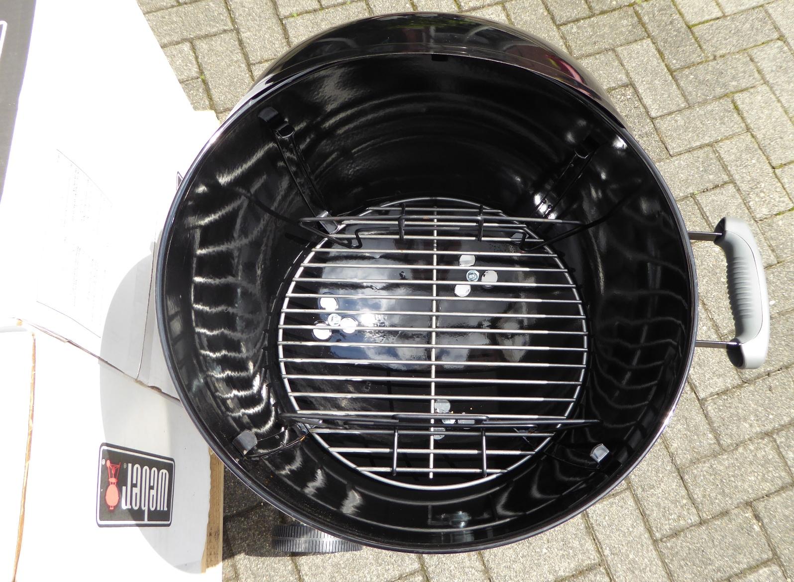 homann schenken kochen wohnen weber holzkohlegrill bar b kettle 47cm black. Black Bedroom Furniture Sets. Home Design Ideas